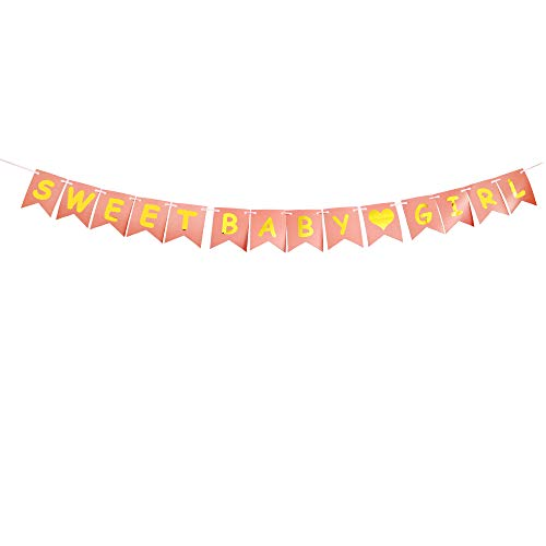 (Sweet Baby Girl Party Banner,Baby Shower Decorations for Girl,Baby Party Suppliesr Gifts with Pink Shower Banner)