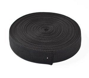 1.5 inch HG-X /® 1.5 Inch Wide 10 Yards Black Heavy Polypro Webbing Strap