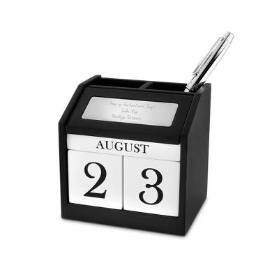 Things Remembered Personalized Calendar Block Pen Holder with Engraving Included -