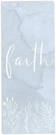 heartfelt Tabletop Decor - Vertical Block - Inspirational - Faith (Pack of 2)