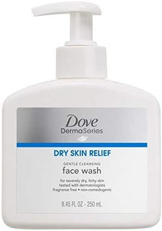 Facial Cleanser: Dove DermaSeries Dry Skin Relief Face Wash
