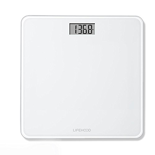 Digital Body Weight Bathroom Scale   4 High Precision Sensors Body Weight Scale With Step On   Auto Calibrated   Auto On Off Technology  Wide Sturdy Tempered Glass  Round Corner Design  400 Pounds