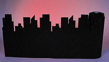 Shindigz Corrugated Border City Skyline Black Roll (New York Border)