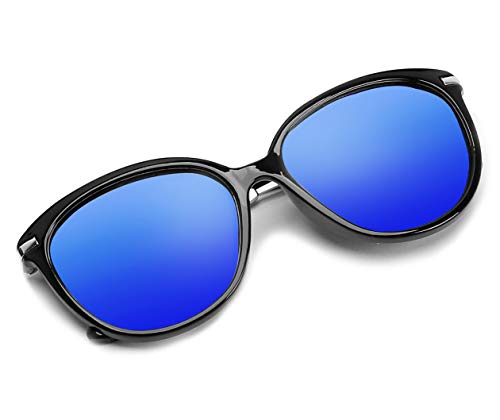 Diamond Candy Eyewear Blue Polarized Mirrored Sunglasses Vintage Sun Glasses For Women