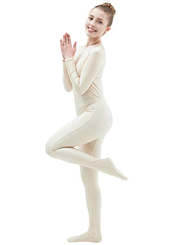 Ensnovo Womens Lycra Spandex One Piece Unitard Full Bodysuit Zentai Suit Costume Nude L. ()