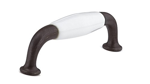 Richelieu Hardware BP970080130 Classic Metal & Ceramic Handle Pull ,3 7/9