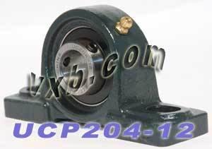 "UCP 204-12 Pillow Block Bearing Self-Aligning 3//4/"" Bore 2 Bolt Solid Base 2PCS"