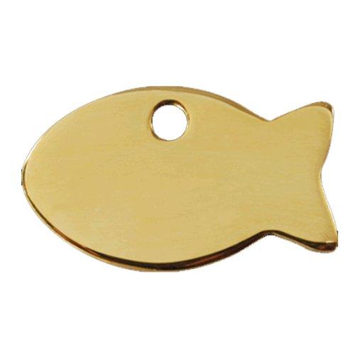 Katzenmarke Messing 'Fish' inkl. Gravur