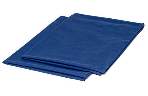 College Colors Pillowcases 100% Brushed Microfiber, Hypoallergenic Pillow Cover - Dorm Bedding Soft, Stain, Fade and Wrinkle Resistant (Standard 20x30 - 2 Pack, Light Blue)