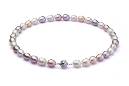 "18"" Multicolor Freshwater Cultured 9.5-10mm Pearl Necklace"