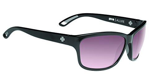 Spy Optic Allure Wrap Sunglasses, Black/Happy Merlot Fade, 63 mm