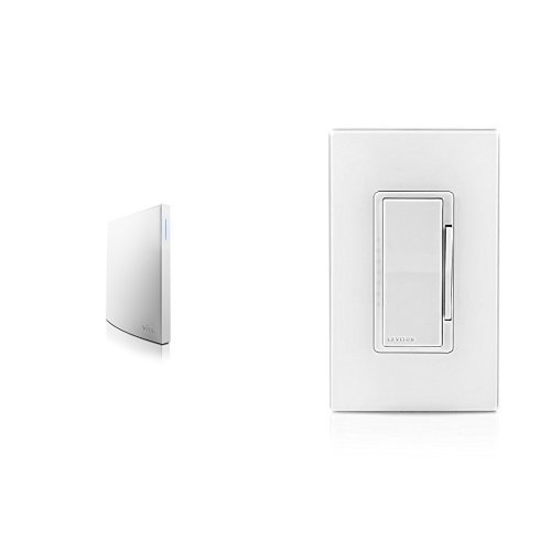 Wink Hub 2 and Leviton DZ1KD-1BZ Decora Smart 1000W Dimmer with Z-Wave Technology, White/Ivory/Light Almond
