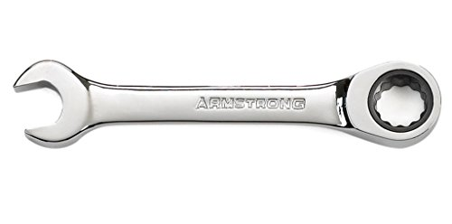 Armstrong 54-119 19mm 12 Point Full Polish Stubby Combination Ratcheting Wrench ()