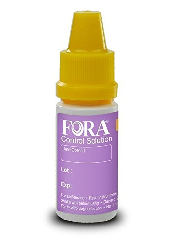 FORA -Ketone Control Solution (L1) Expires 10/31/2019 (Compatible with FORA 6 Connect Meter)