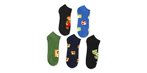 nintendo-super-mario-mens-5-pk-no-show-socks