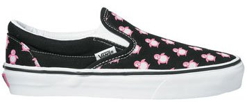 fecb44ef0e Image Unavailable. Image not available for. Colour  Vans Classic Slip On  (Small Pink Penguins) Black White Aurora ...