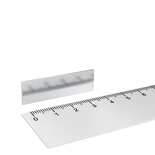 40 x 12 x 1 mm Grade N42 vernickelt 10 x Neodym Quadermagnet