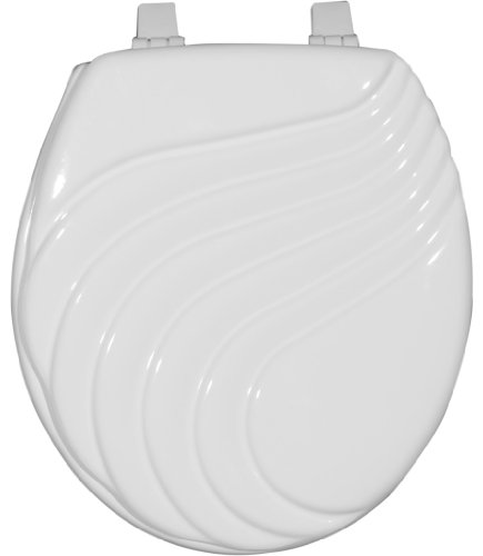 Home Dynamix TSP107-105 Painted Toilet Seat, 17-Inch, White