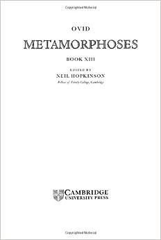 Ovid: Metamorphoses Book XIII: Bk. 13 (Cambridge Greek and Latin Classics)