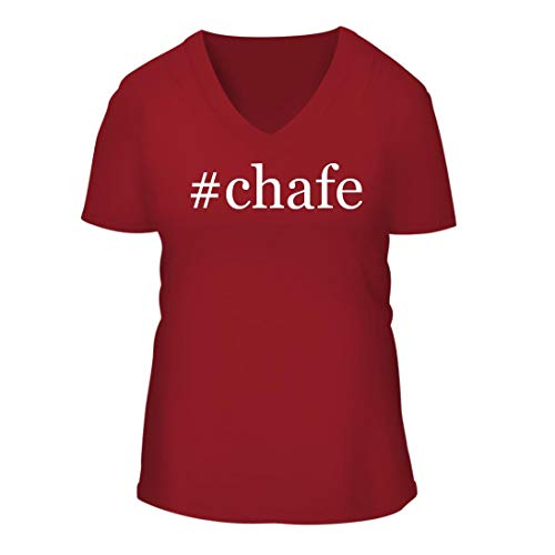 #Chafe - A Nice Hashtag Women's Short Sleeve V-Neck T-Shirt Shirt, Red, Large