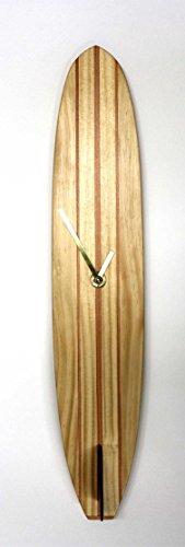 Big Kahoona Wood Surfboard Clock
