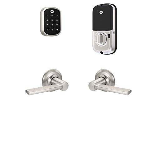 Yale Assure Lock SL with Z-Wave with Valdosta Lever - Works with Ring Alarm, Smartthings, and Wink