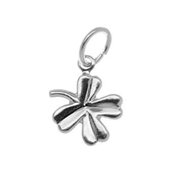 Amazon silver plated small four leaf clover charm with ring silver plated small four leaf clover charm with ring 105mm 6 mozeypictures Image collections