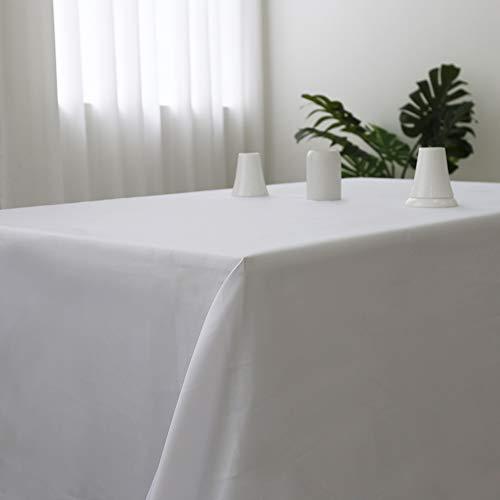 (Zdada Rectangular 60x105inch Polyester Table Cloth White Fabric Linen Tablecloth Wedding Reception Restaurant Banquet Party)