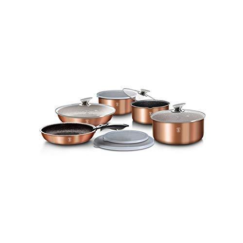 batería de ollas y sartenes Metallic Line con Mango Desmontable 12 unidades Color Cobre: Amazon.es: Hogar