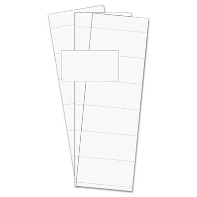 Data Card Replacement, 3''w x 1 3/4''h, White, 500/PK - BVCFM1513