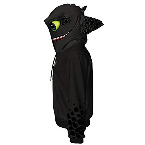 Toothless Hoodie How to Train Your Dragon Jacket Creative Casual Sweatshirt for Men Black]()