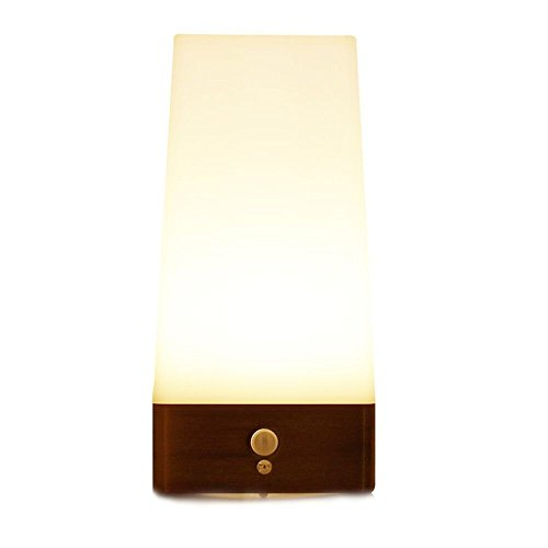 ZEEFO Wireless Motion Sensor LED Night Light 3 Modes Battery Powered LED Table Lamp,Sensitive Lights Stairway Bedroom/Bathroom Hallway Emergency Camping Lamp For Kids Nursery Child House(Square Shape)