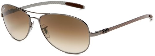 Ray-Ban RB8301 - GUNMETAL Frame CRYSTAL BROWN GRADIENT Lense