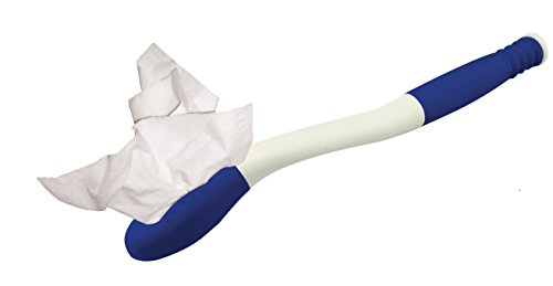 Blue Jay The Wiping Wand Long Reach Hygienic Cleaning Aid, Extends Your Reach Over 15″, Easy To Use, Grips Toilet Paper or Pre-Moistened Wipes, Release Button, Study ABS Plastic, Mobility Aid