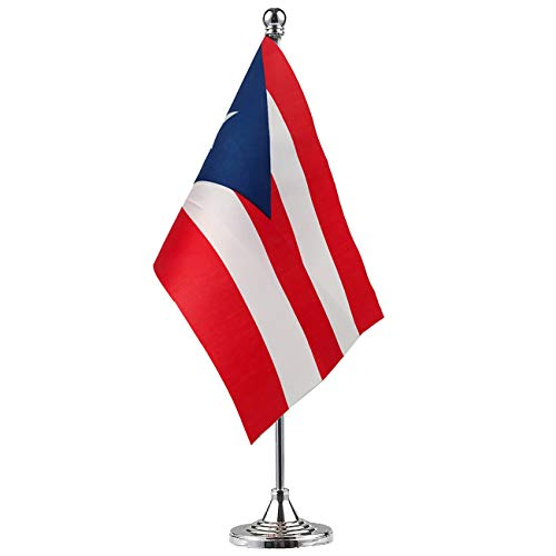 GentleGirl.USA Puerto Rico Flag Puerto Rican Flag Table Flag,Desk Flag,Office Flag,International World Country Flags Banners,Festival Events Celebration,Office Decoration,Desk,Home Decoration ()