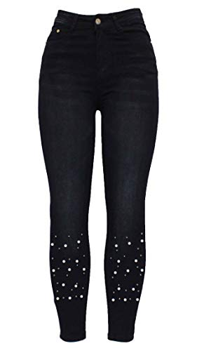 Skinny Femme Motif Taille Barfly Unique Jeans 8 Fashion U7qxwnEg6