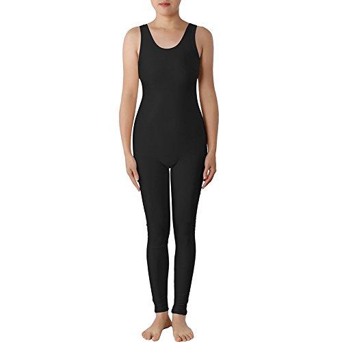 Muka Tank Top Unitard Lycra Zentai Bodysuit Catsuit Teamwear Dancewear - Black,L (Circus Dance Costumes)