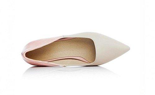 LDMB Printemps et été Chaussures à talons plats à pointes pointues chaussures paresseuses chaussures , meters white , 37