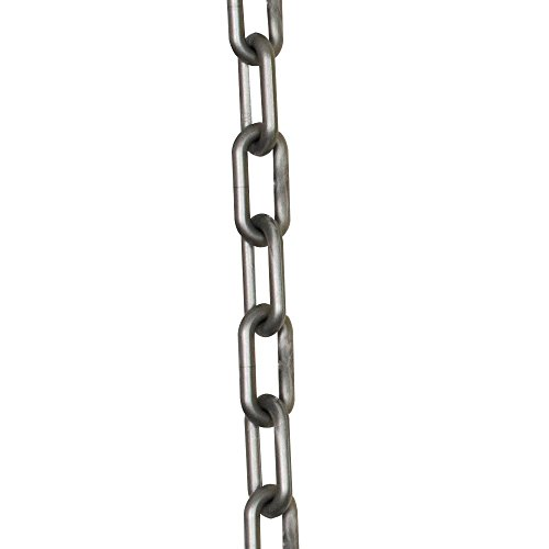 Mr. Chain Plastic Barrier Chain, Silver, 2-Inch Link Diameter, 25-Foot Length (50008-25)]()