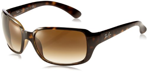 Ray-Ban Women's RB4068 Square Sunglasses, Light Tortoise/Brown Gradient, 60 mm