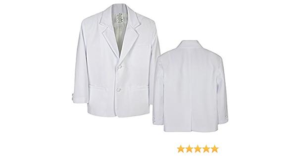 5pc Party Formal Wedding Christening Baby Boy Children Teen Notch Lapel Tail Black or White Suit Tuxedo Sm-20
