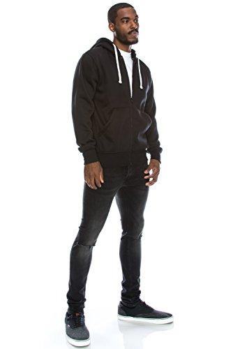 JC DISTRO Mens Hipster Hip Hop Basic Zip up Hoodie Jacket (upto 6XL Plus)