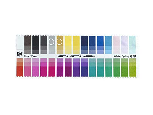Handy Fabric Color Swatch Clear Winter with 30 Colors for Color Analysis and Image ()