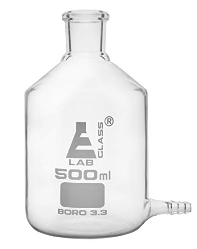Aspirator Bottle, 500ml - with Outlet for Tubing - Borosilicate Glass - Eisco Labs ()