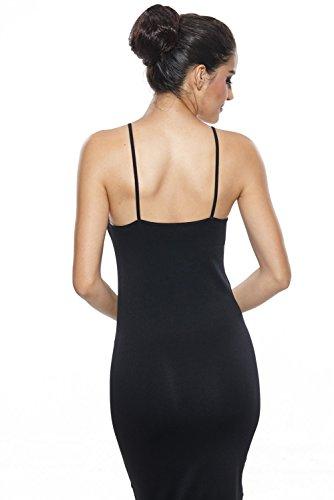 ad023663993c9e Khaya Women's Seamless Long Slip Dress Spaghetti Strap Full Slip ...