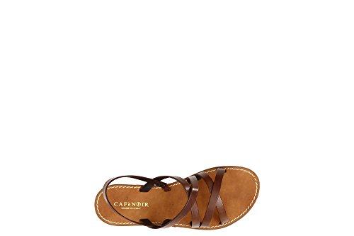 010 109 CAFèNOIR Back 5 Kge137 Nero Women's Sling Cuoio 6 Sandals RaBRqzwx