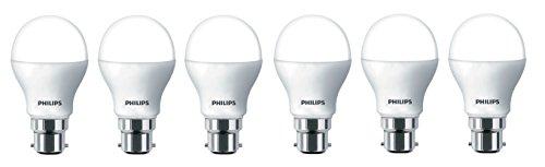 Philips Base B22 7-Watt Glass LED Bulb (Pack of 6, Cool Day Light)