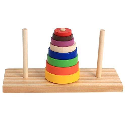 (Brightric Wooden Puzzle Stacking Tower of Hanoi Kid Mathematical Educational Toys)