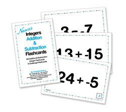 Nasco's Integer Flash Cards - Addition and Subtraction - TB22823