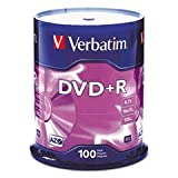 VER95098 - Verbatim 95098 DVD Recordable Media - DVD+R - 16x - 4.70 GB - 100 Pack Spindle